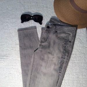 Jennifer Lopez embellished side Jeans